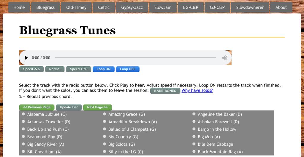 Free Bluegrass Backing Tracks