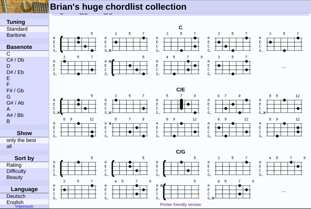 Brian's HUGE Chordlist Collection